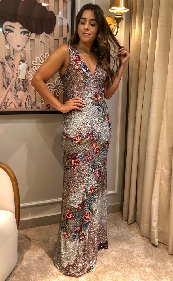 vestido bordado longo patricia bonaldi