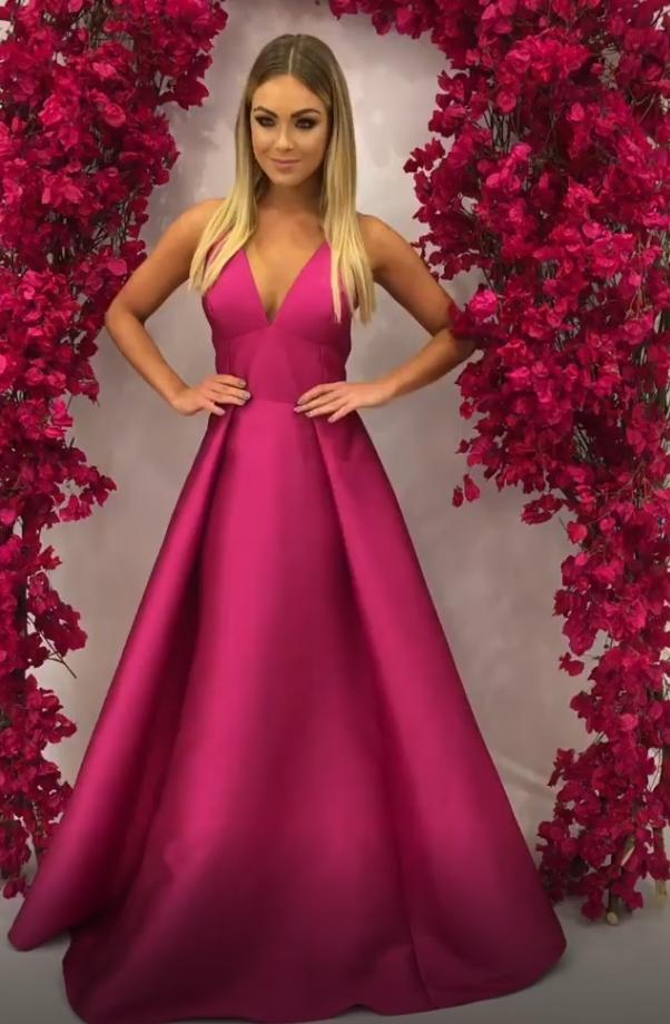vestido pink longo