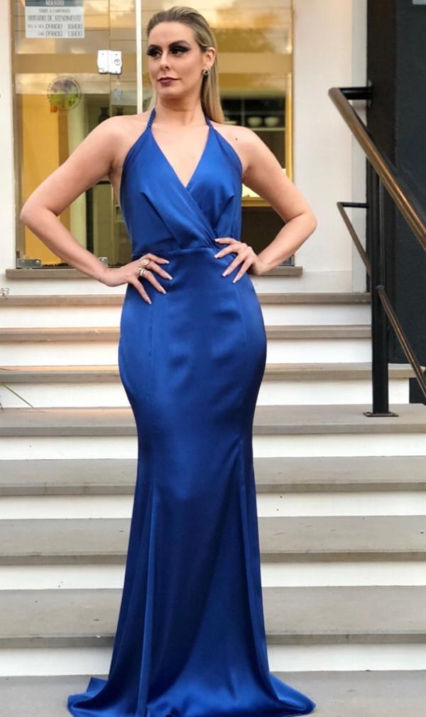 vestido de festa longo azul