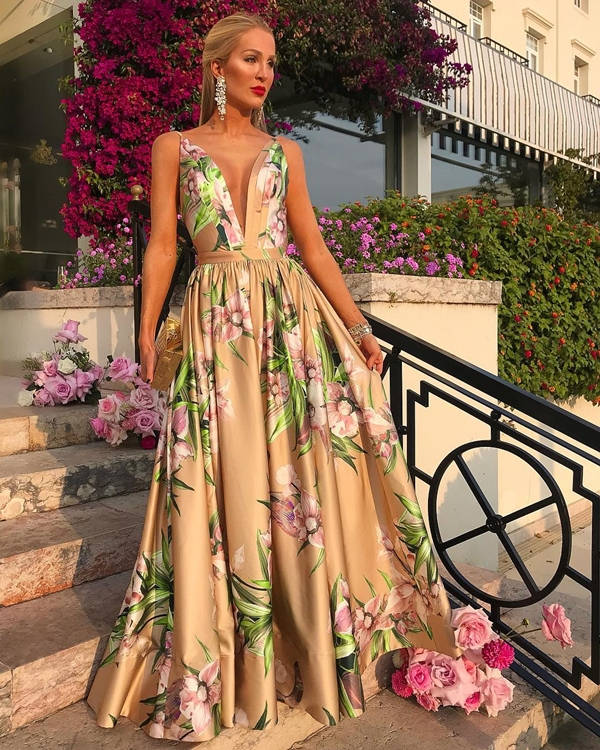vestido agilita longo floral