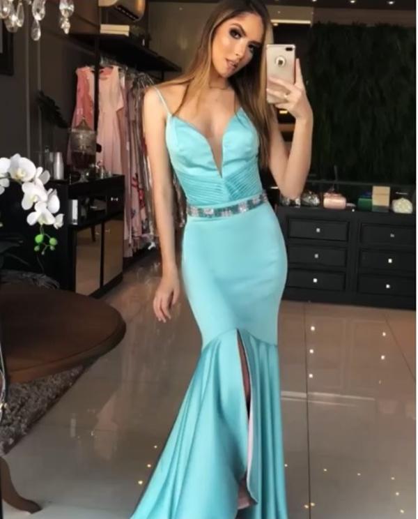 vestido azul tiffany para madrinha