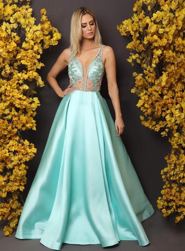 vestido tiffany para madrinha ou debutante