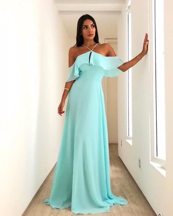 vestido longo tiffany leve