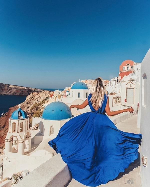 vestido longo azul para madrinha de casamento na praia