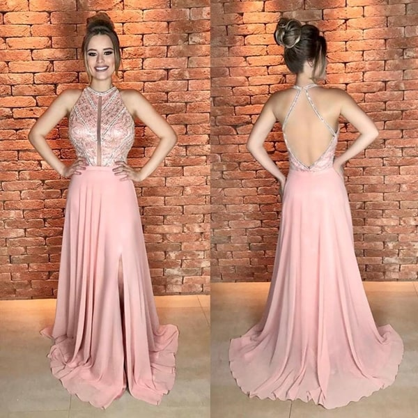 ae8c72087e0 ... vestido longo rose para madrinha de casamento