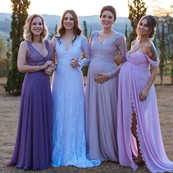 madrinhas vestidos lavanda