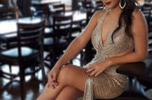 vestido longo prata paetes