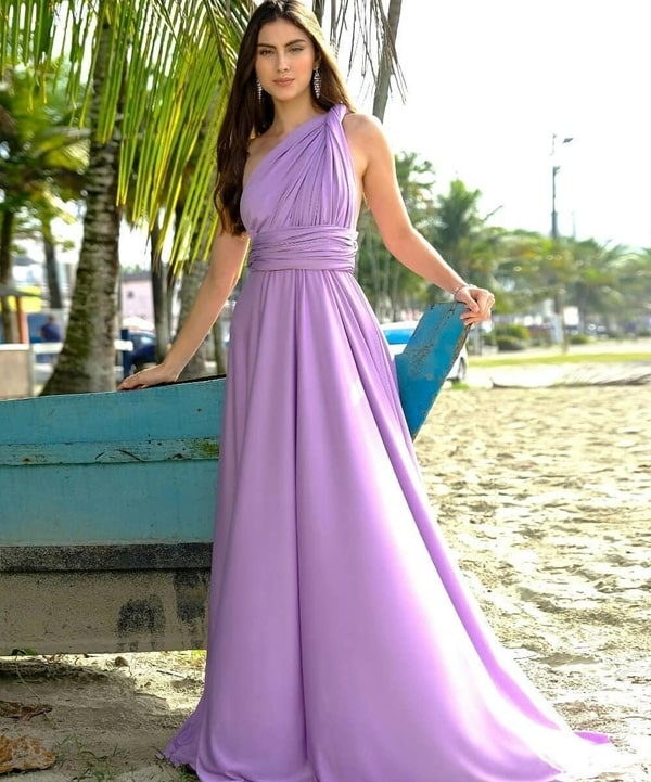 vestido longo lavanda multiformas para madrinha