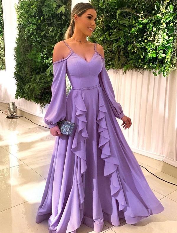 Vestido lavanda para madrinha de casamento: 35 vestidos para arrasar no look!