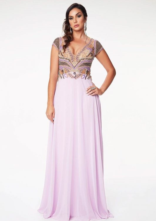 vestido longo lilás para madrinha de casamento