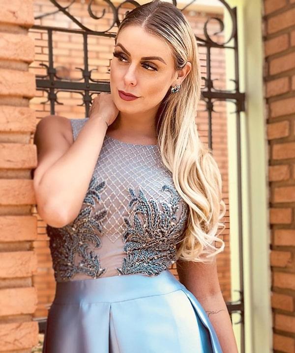 vestido longo azul serenity estilo princesa