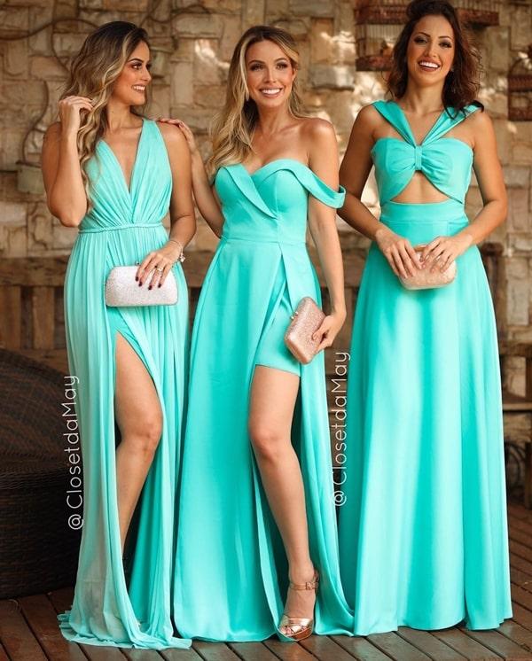 madrinhas de vestido tiffany