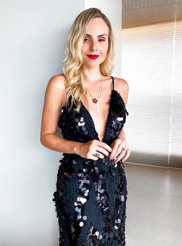layla monteiro vestido de festa maxi paetes
