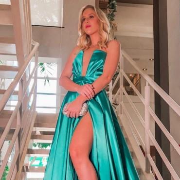 vestido de festa verde 2019