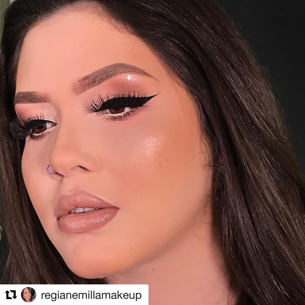 maquiagem de festa suave e com brilho