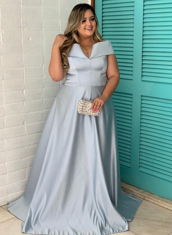 vestidolongo azul serenity plus size