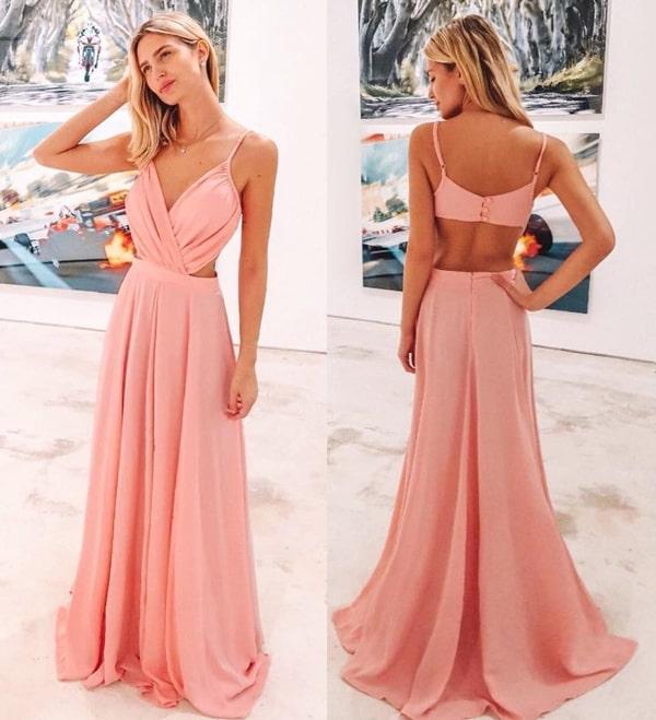 vestido longa rose