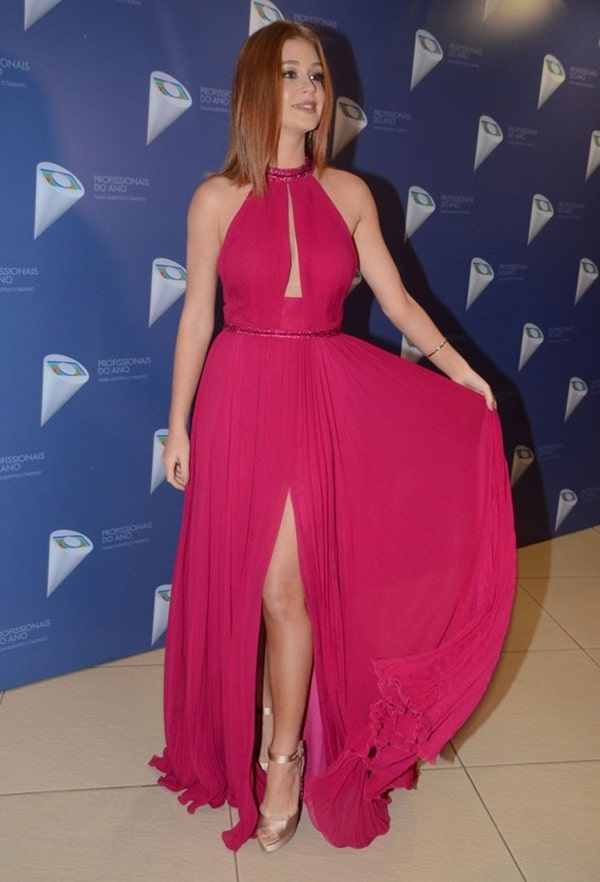 Marina Ruy Barbosa vestido de festa rosa pink