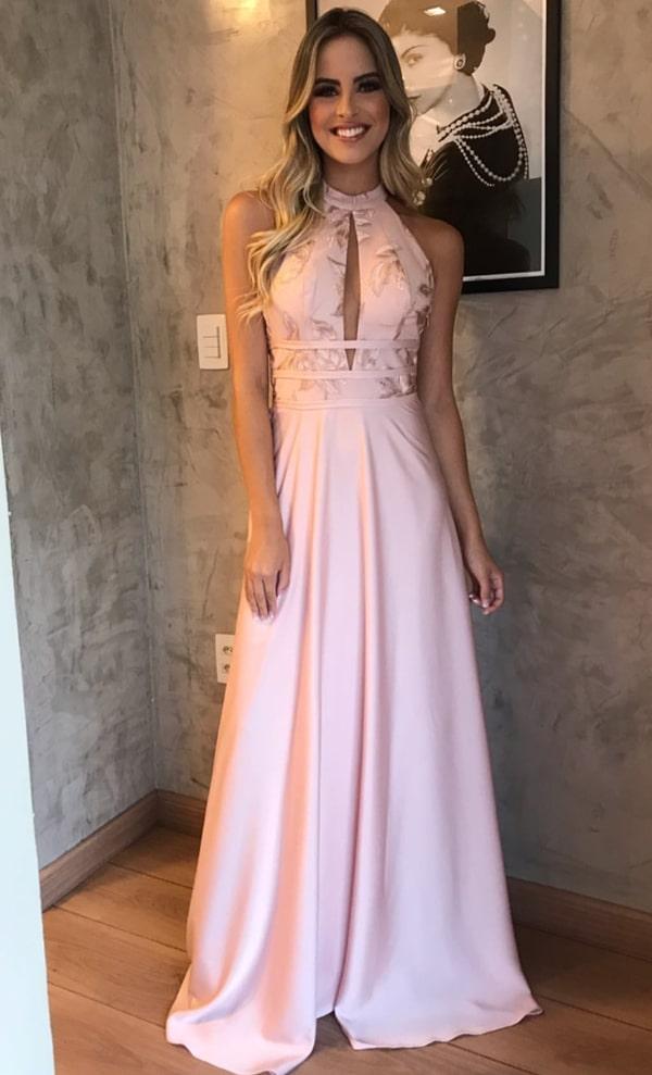 vestido rose para madrinha de casamento