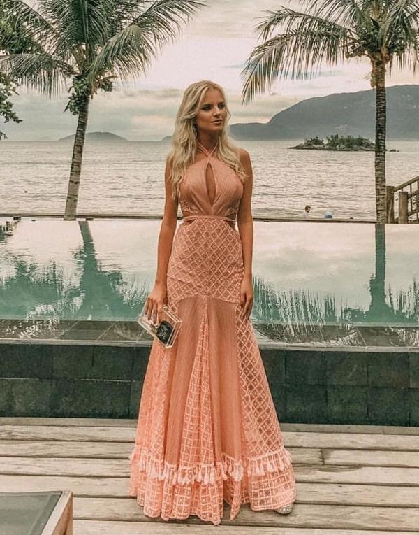 vestido madrinha de casamento na praia