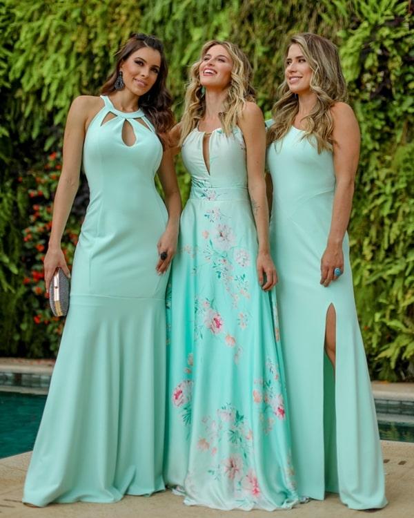 madrinhas de casamento vestido verde claro