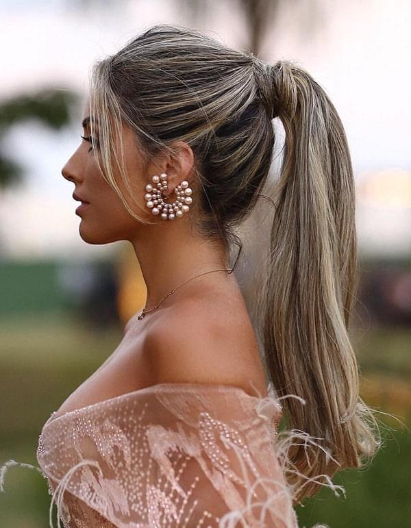 penteado rabo de cavalo ponytail para madrinha de casamento
