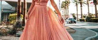 vestido rose com brilho para madrinha