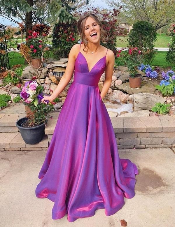 30 vestidos longos pink e fúcsia
