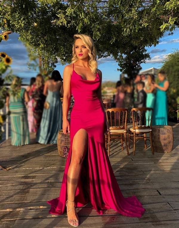 Vestido de festa pink e fúcsia: 30 longos para  usar em 2019 . Na  Foto Rafa Kalimann