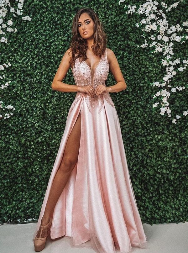 316a14013 Vestido rosa para madrinha de casamento 2019: seleção de longos