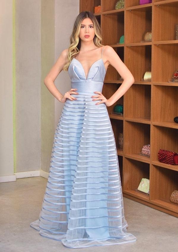 30 vestidos azul serenity para madrinha de casamento 2019