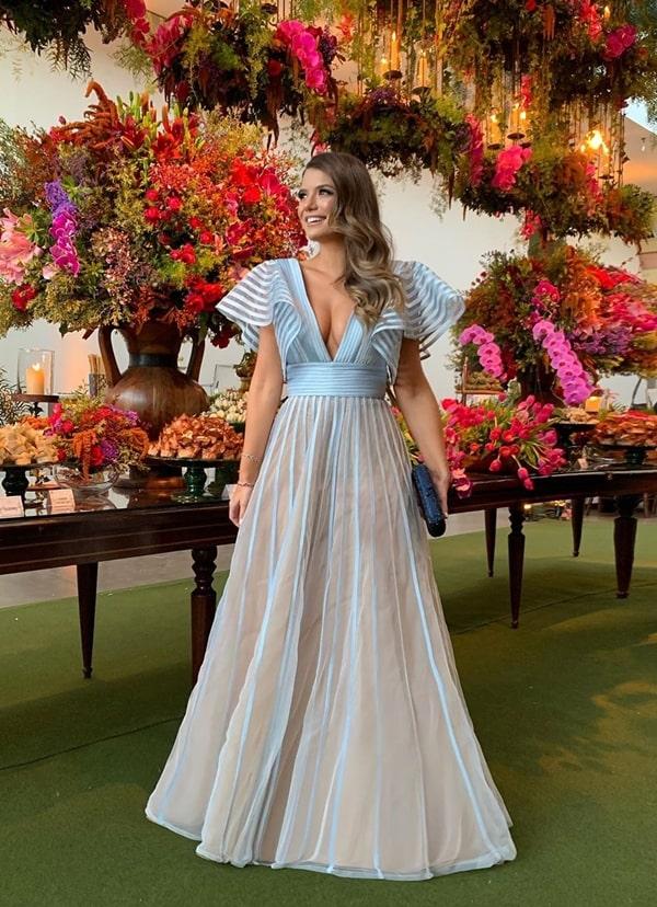 35 vestidos azul claro para madrinhas de casamento 2019
