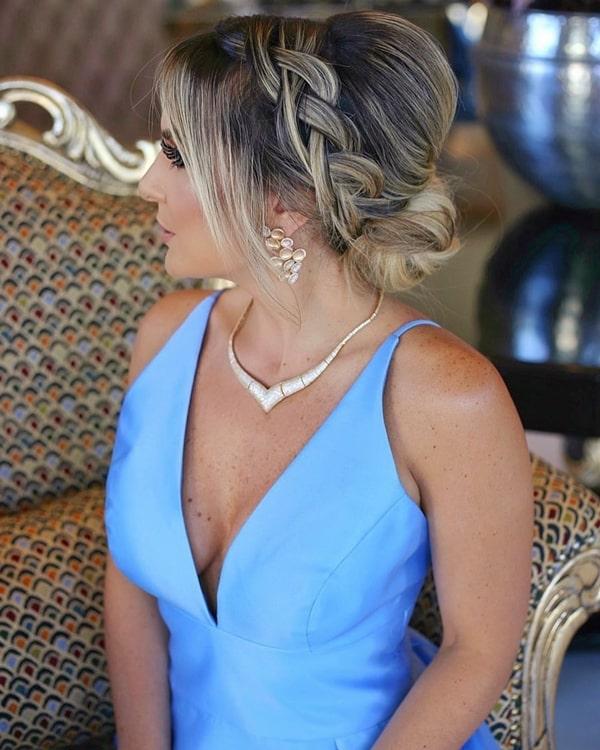 35 vestidos longos azul claro para madrinhas de casamento 2019