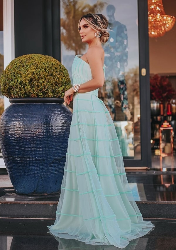 Vestido de festa verde claro 2019: fotos, modelos e dicas