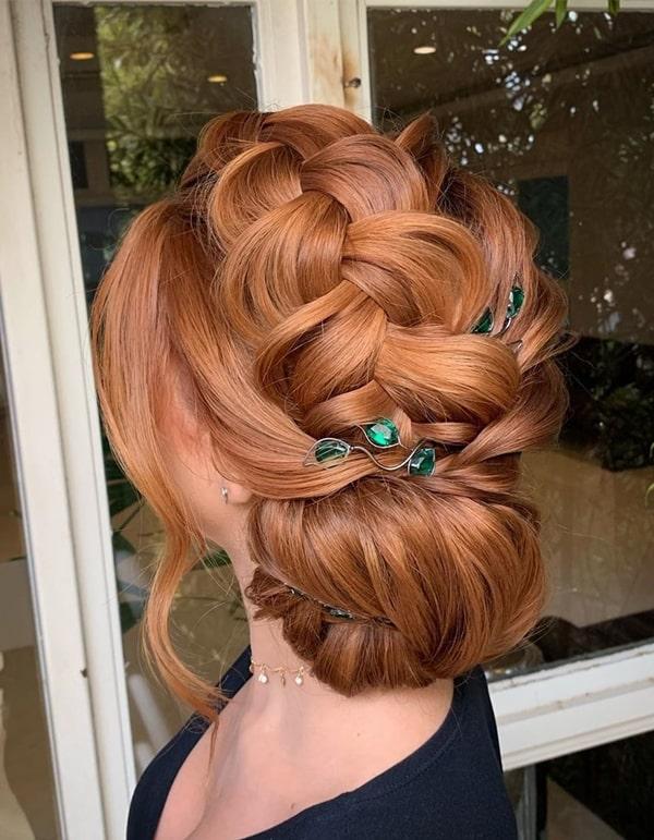penteado de festa coque