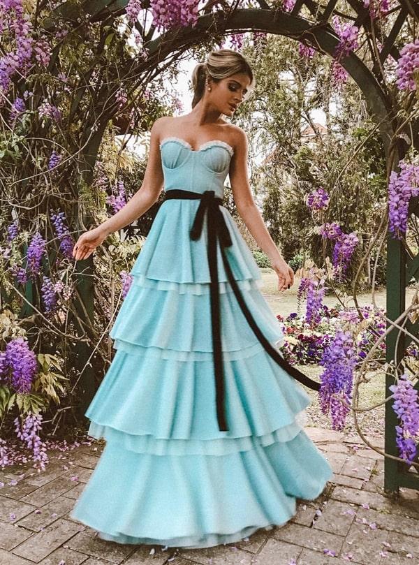 vestido de festa longo Thassia Naves casamento
