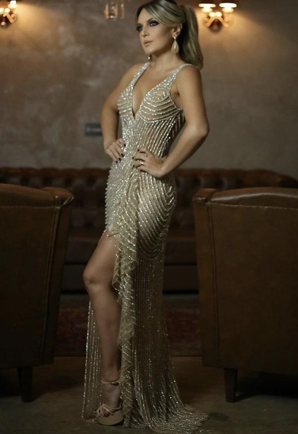 vestido bordado para baile de formatura