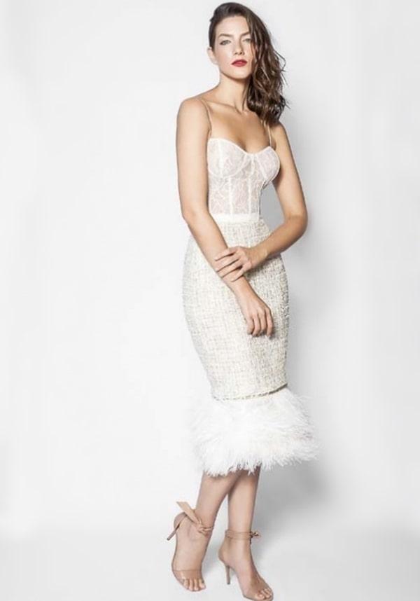 20 vestidos branco para casamento civil (longo e midi)