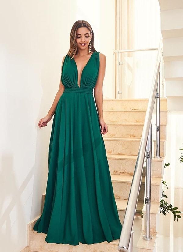 20 vestidos de festa verde para usar em 2019
