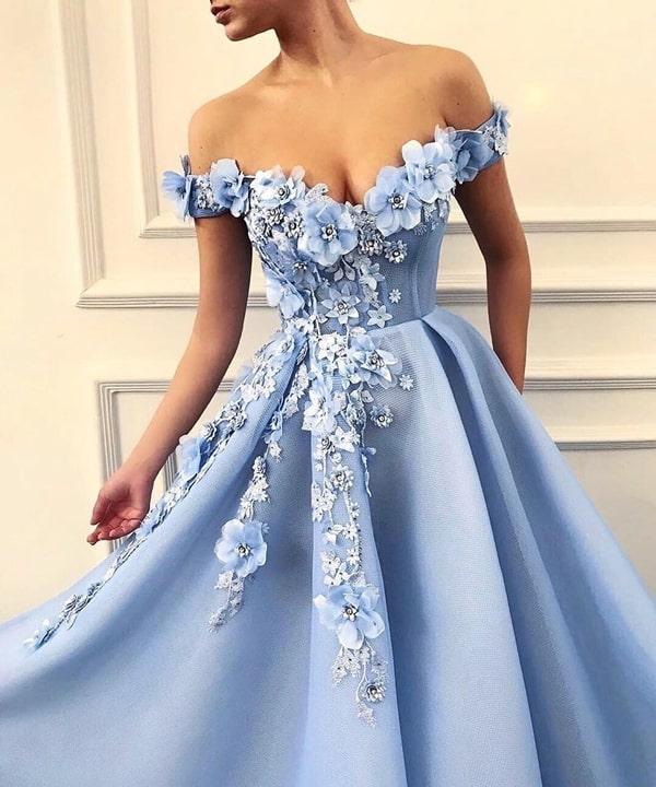 vestido azul serenity bordado