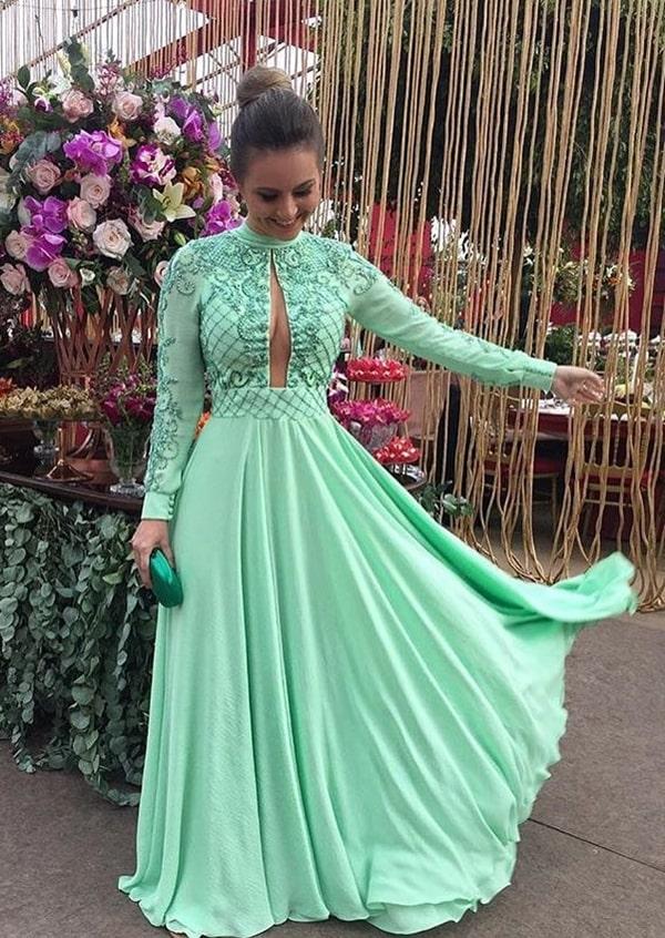 vestido verde menta para madrinha de casamento