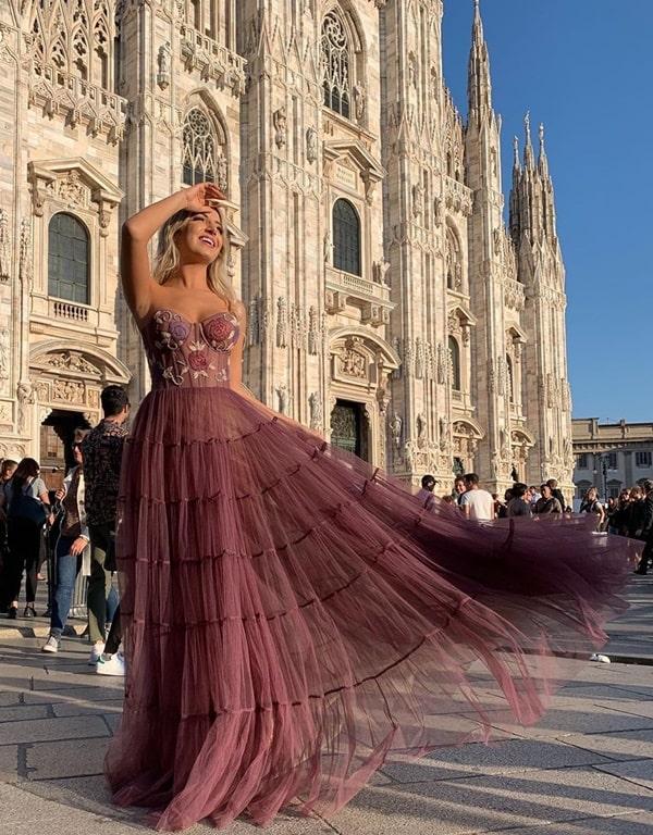 vestido de festa longo com corpete estruturado corselete