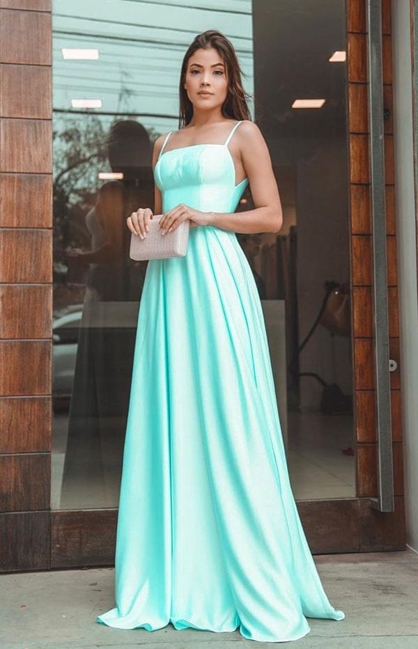 vestido longo tiffany para madrinha de casamento