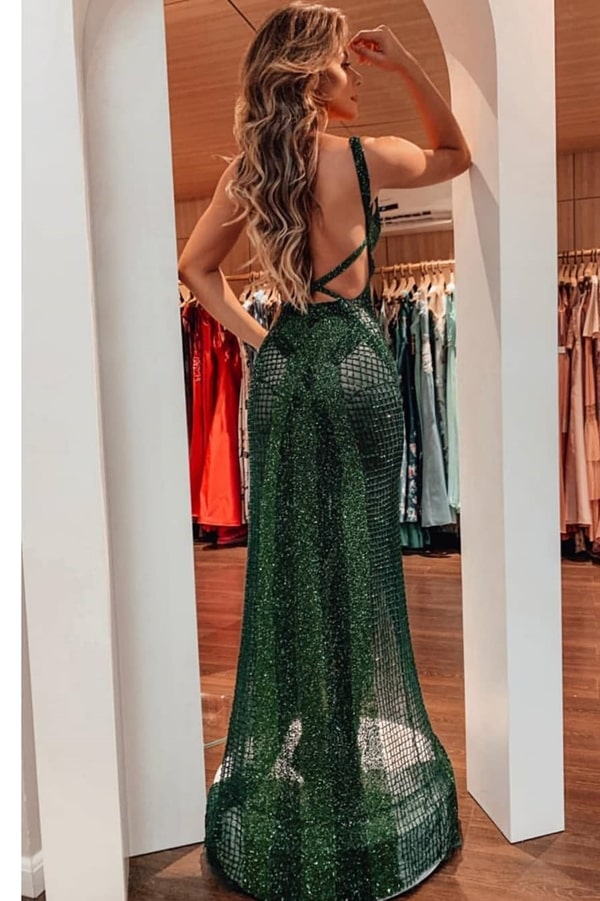 vestido verde para formatura 2020