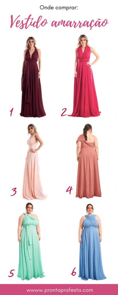 onde comprar vestido amarração multiformas para madrinha de casamento