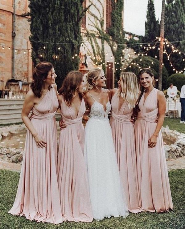 vestido amarração para madrinha de casamento fotos