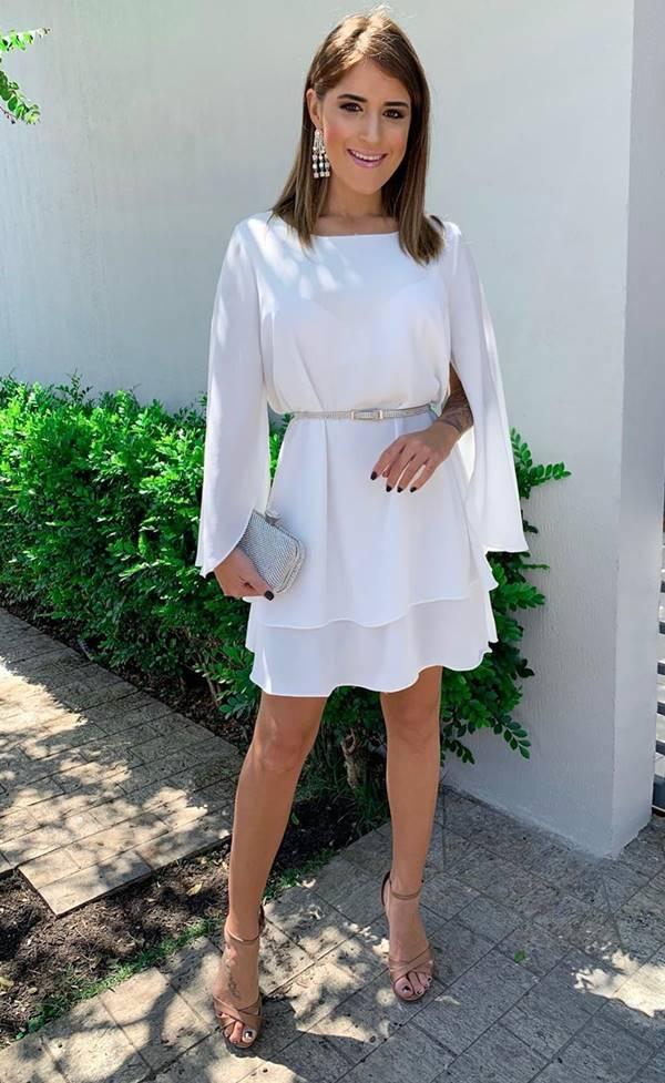 vestido branco para batizado, casamento civil ou noivado
