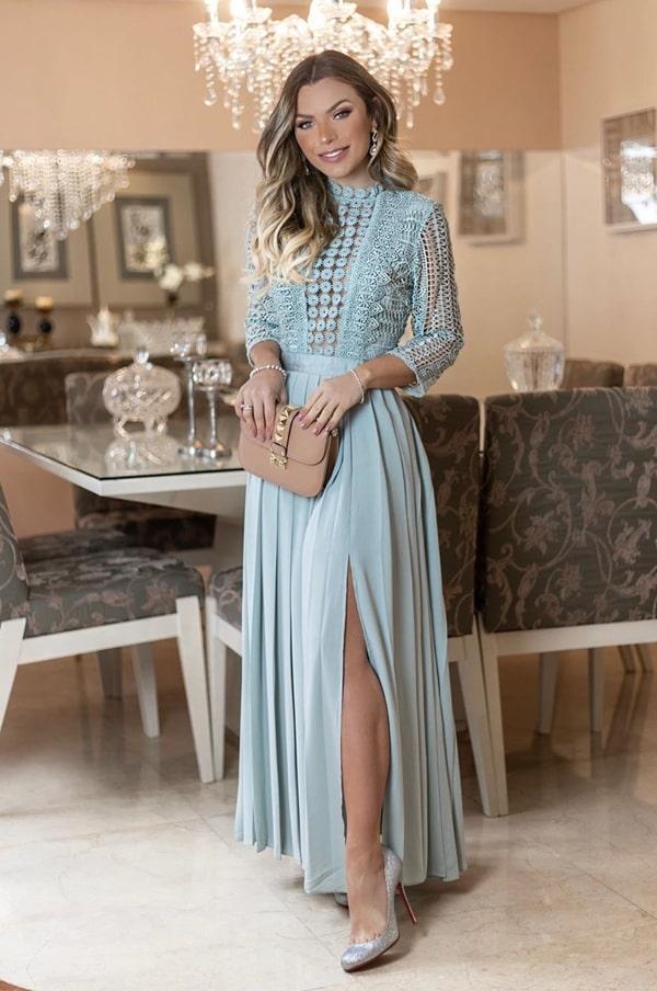 vestido de festa midi longuete para casamento