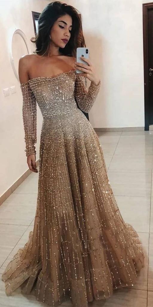 vestido longo dourado para formatura