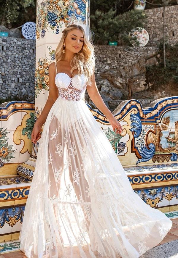 vestido longo branco com corpete e hot pants para reveillon